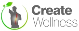 create wellness logo official large copy contrast